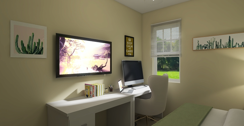 Guest Room Terena Interior Design Render