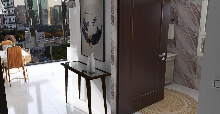 Small Flat in Sao Paulo Interior Design Render