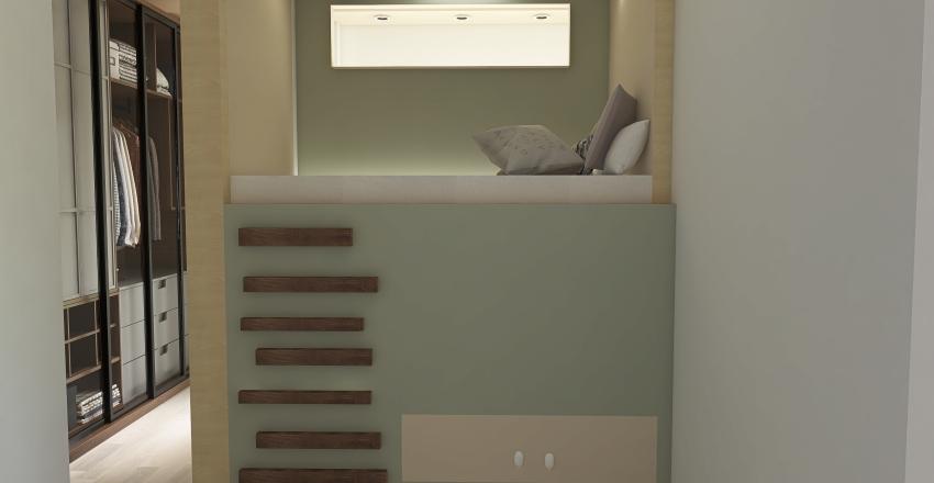 Playful Apartment Interior Design Render