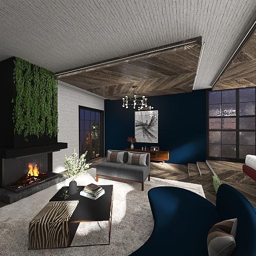 Earthy bedroom design 1/1/21 Interior Design Render