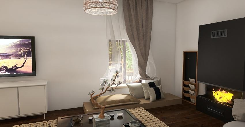 the small village Interior Design Render