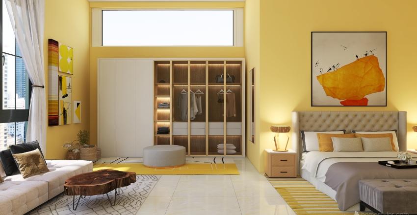room yellow Interior Design Render