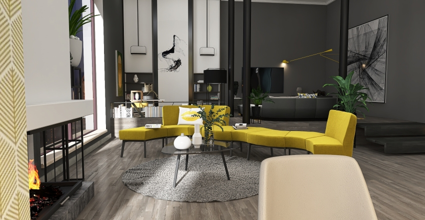 Pantone color of the year Interior Design Render