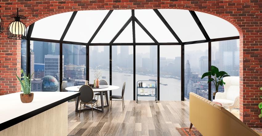 Glass Dome Interior Design Render