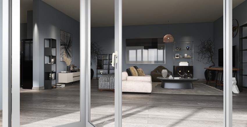 Bachelors Apartment Interior Design Render