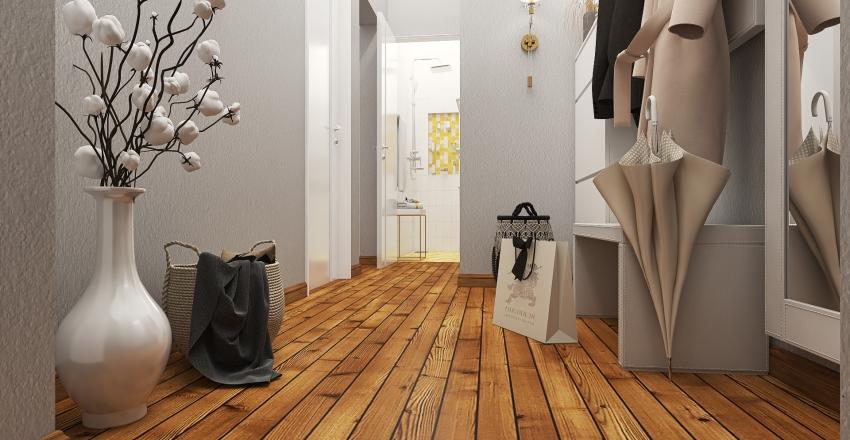 Small apartment in Odessa #Pantone2021 Interior Design Render