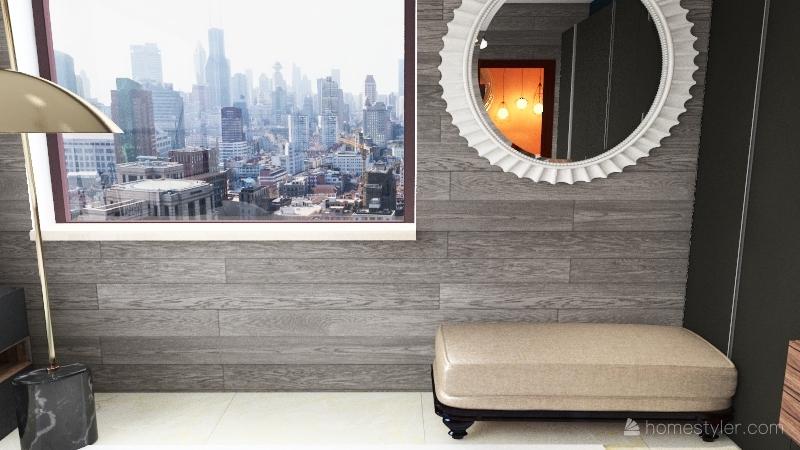 Neutral Toned Apartment Interior Design Render