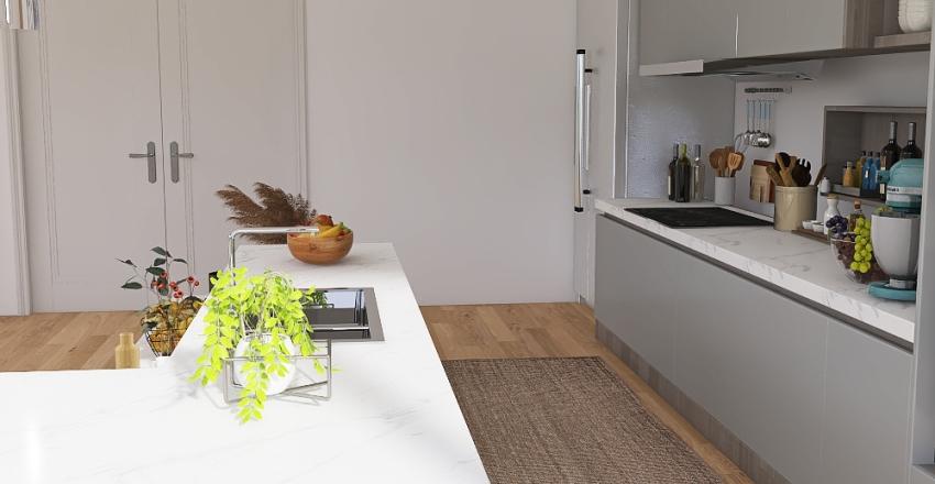 Apartment's kitchen Interior Design Render