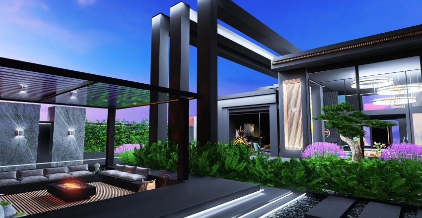 BACK TO BLACK Interior Design Render
