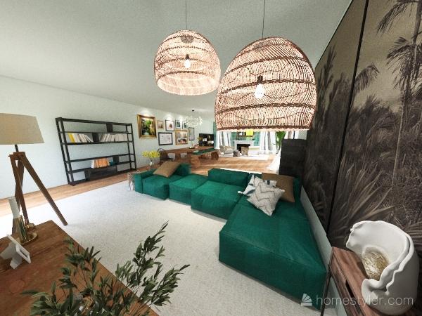The Moore Family Home - Multipurpose living space Interior Design Render