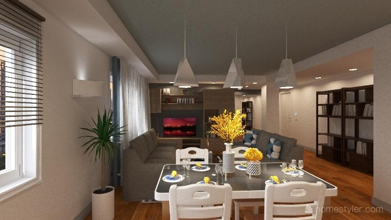 casa paola e diego Interior Design Render