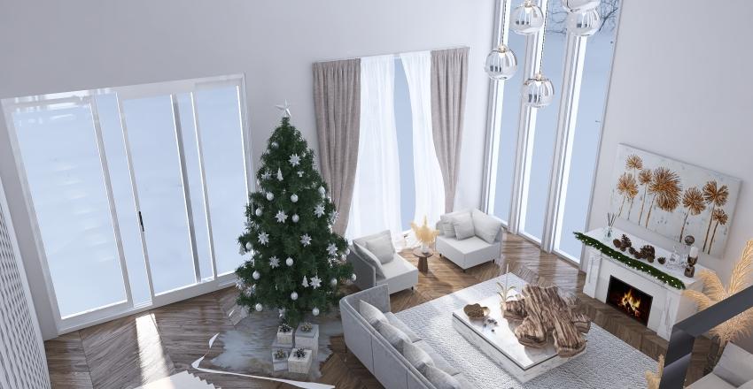 winter themed Interior Design Render