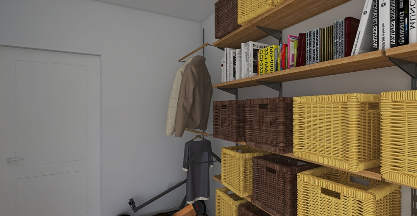 Ilguciems - 119. serija, divistabu dzīvoklis Interior Design Render