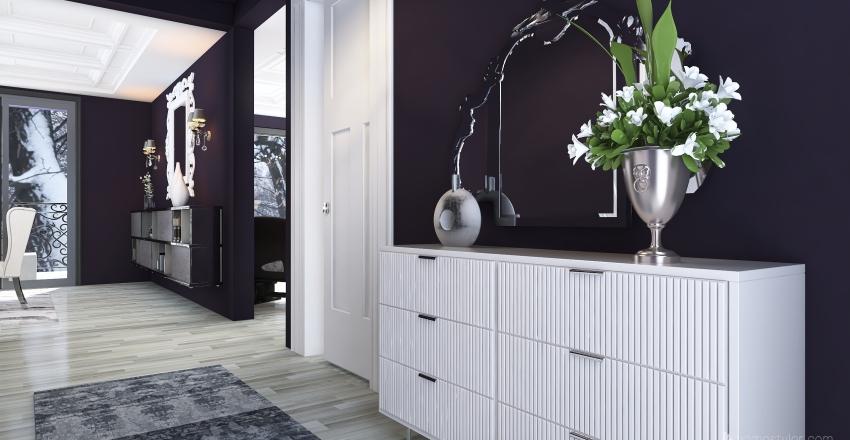 Glam House Interior Design Render