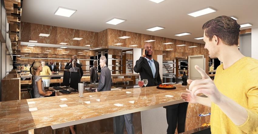 nuovo bar al todaro Interior Design Render
