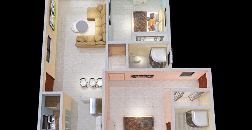 SL Flat_copy Interior Design Render