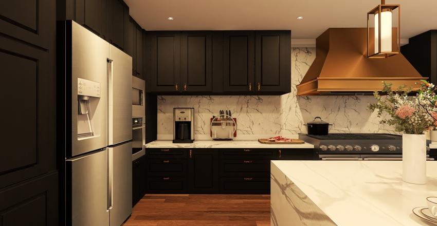 (v2) 018| social area Interior Design Render