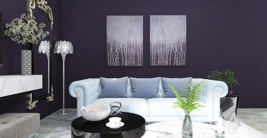 Glam House Interior Design Render