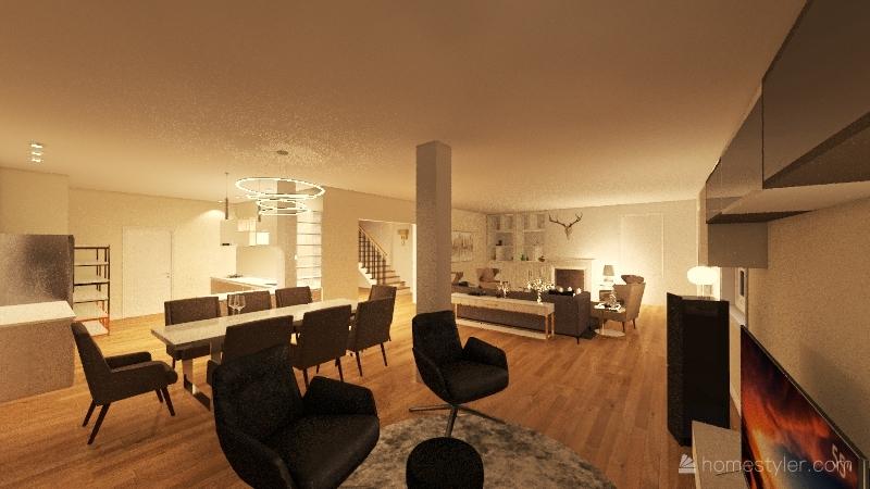 PIANO TERRA DEFINITIVO Interior Design Render