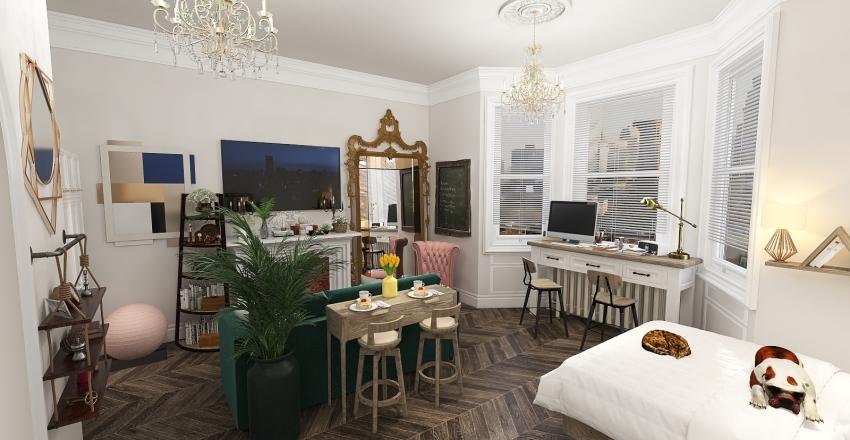 Renovated Studio Interior Design Render