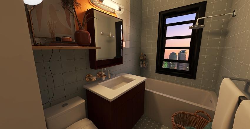 Small city studio apartment  Interior Design Render