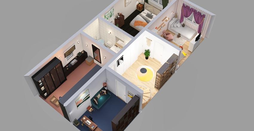 Dewe Cieplewo Góra Interior Design Render