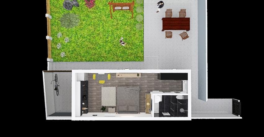Krč garsonka Interior Design Render