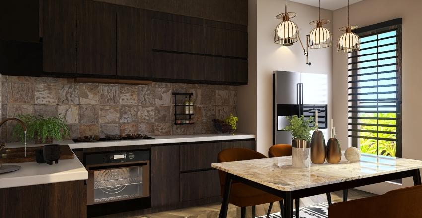 Holiday house in LA Interior Design Render