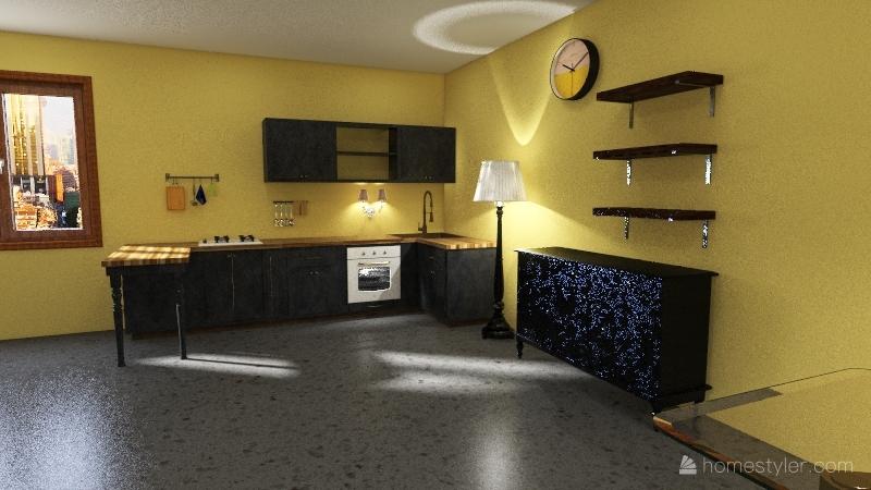 Yellow/grey Pantone 2021 house Interior Design Render