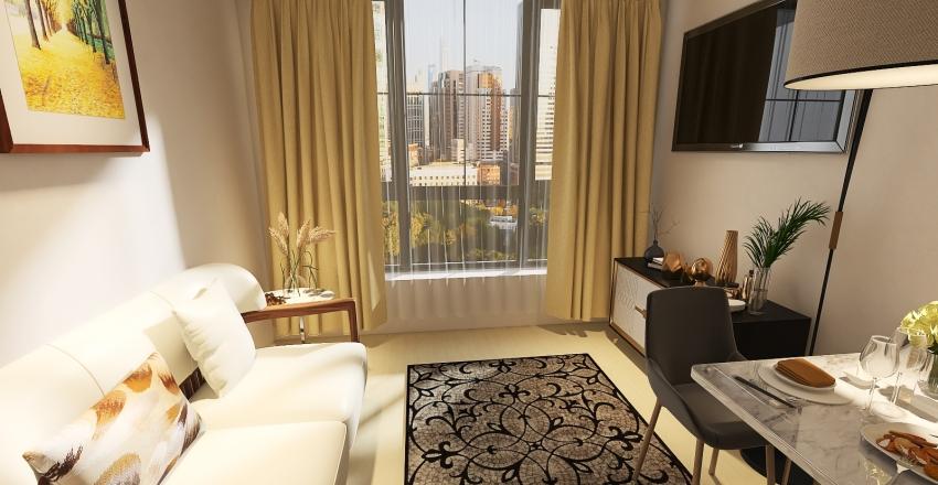 Small Apartament luxury Interior Design Render