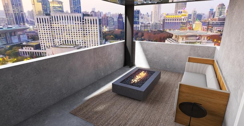 Luxury New York Condo Interior Design Render