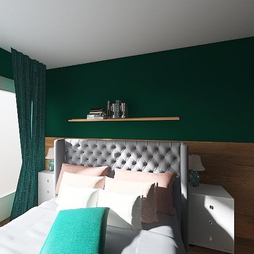 Bedrooom bed 160cm Interior Design Render
