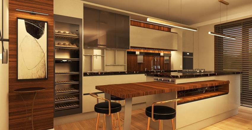 Даша Райт 1-й этаж Interior Design Render