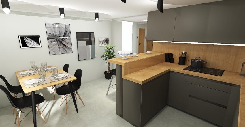 ASIA - Kuchnia + przedpokój Interior Design Render