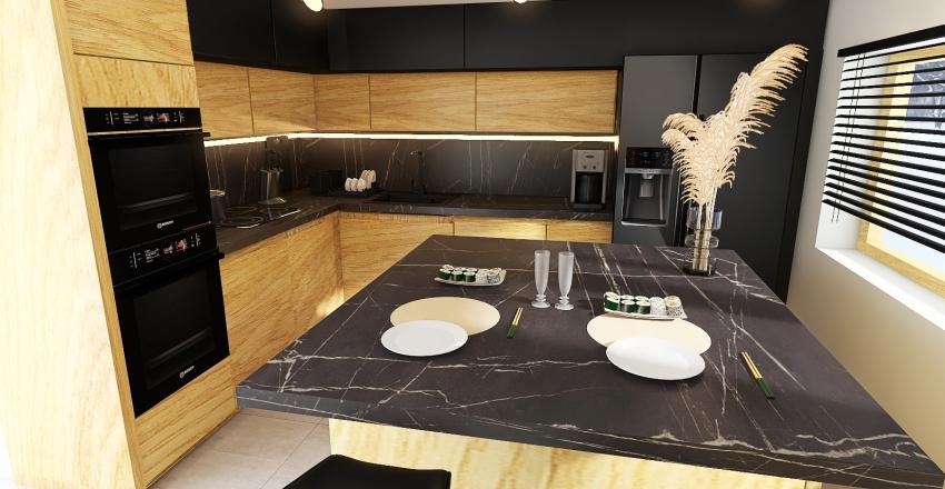 ASIA - Kuchnia wariant II Interior Design Render