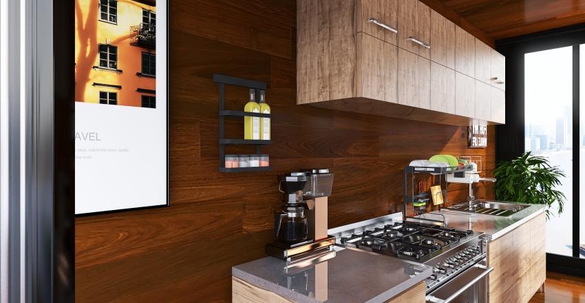 Café Interior Design Render