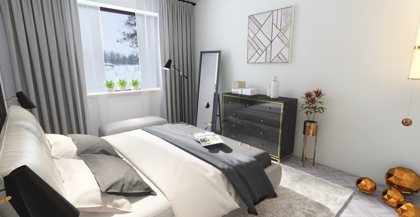 Ap. 4 camere Interior Design Render