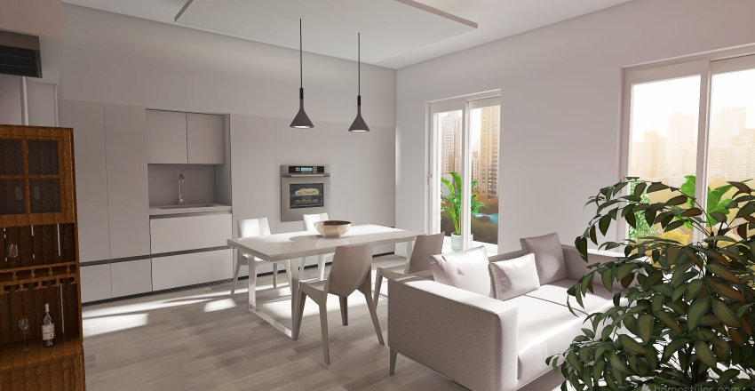 14_APPARTAMENTO Interior Design Render