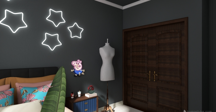 Redesigning a Room: Aarushi Rajesh 2A Interior Design Render