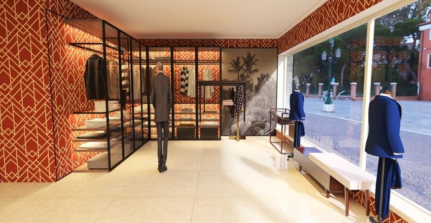 Men´s Store Interior Design Render
