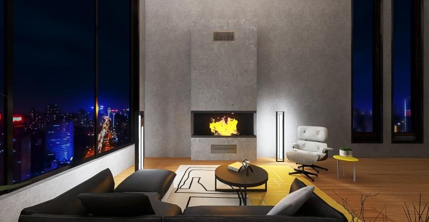 loft industrial - cores PANTONE 2021 Interior Design Render
