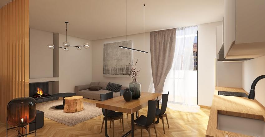 COZY COUPLE APARTMENT Interior Design Render
