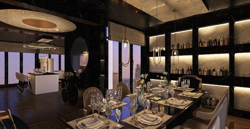 modern kitchen Interior Design Render