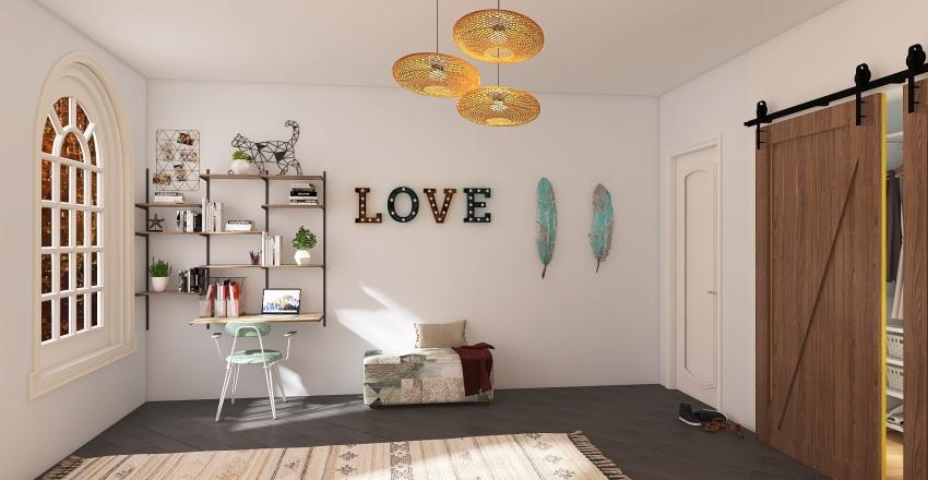 Kentucky Bedroom Fantasy Interior Design Render