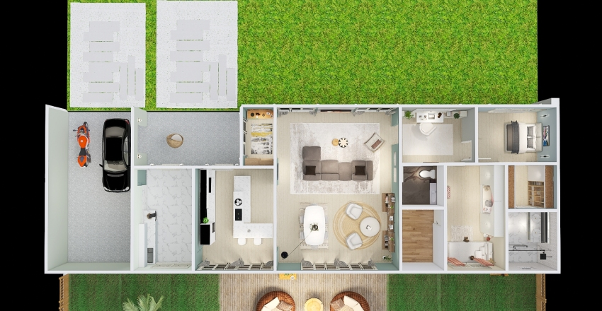 Casa na Serra Catarinense Interior Design Render
