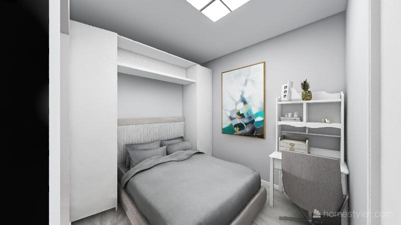 kitchen marble grey and white Interior Design Render