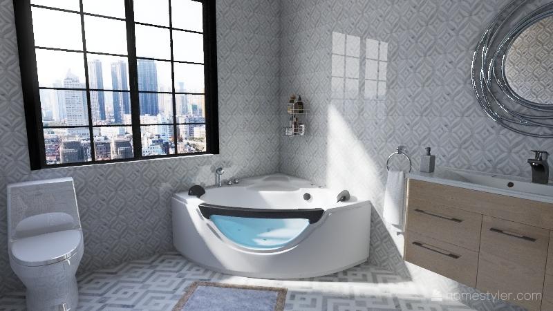 v2_little house Interior Design Render