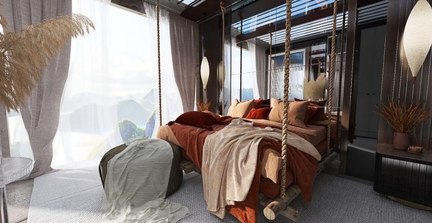 Glass mountain retreat Interior Design Render