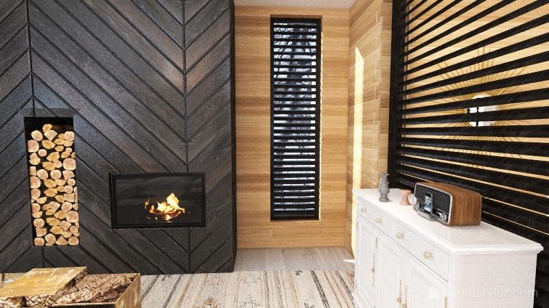 modern mountain home Interior Design Render