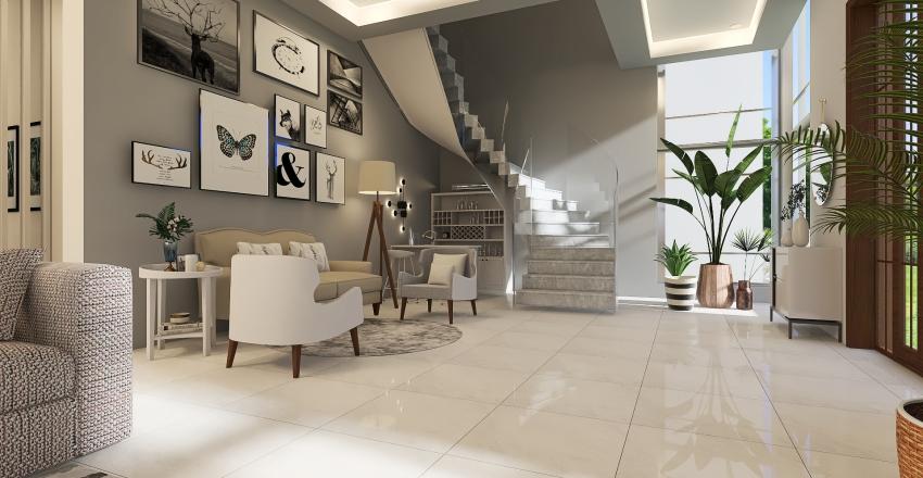 Proposed Modern 2 Storey Residential Interior Design Render